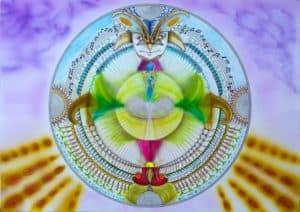 Mandala. Fusion consciente des deux parties libérées.
